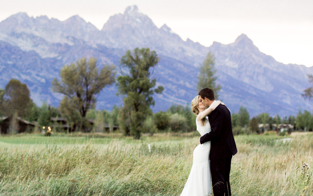 Jackson hole golf and tennis wedding
