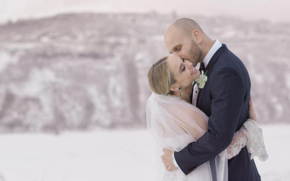 Becca Tobin and Zach Martin